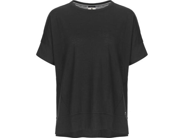 super.natural Slash-kauluksinen T-paita Naiset, jet black
